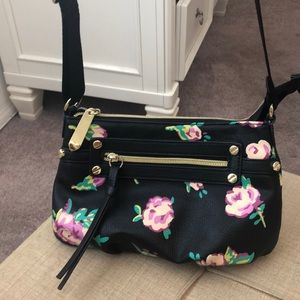 Betsey Johnson small flowered crossbody purse